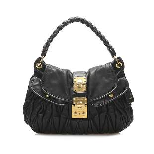 Authentic Miu Miu Coffer Leather Satchel