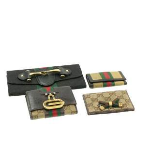 Authentic GUCCI Web Sherry Line GG Canvas Wallet Card