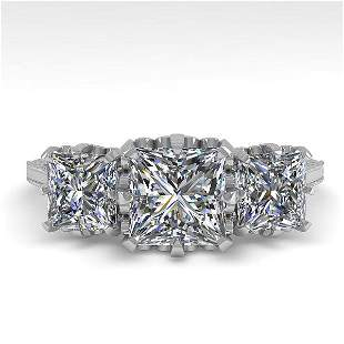 2 ctw Certified VS/SI Princess Diamond 14k White Gold