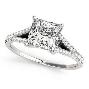 0.81 ctw Certified VS/SI Princess Diamond Ring 14k