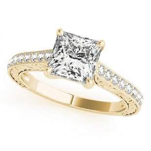 0.8 ctw Certified VS/SI Princess Diamond Ring 14k