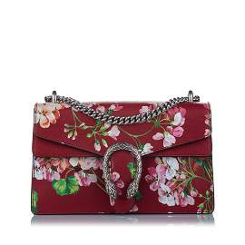 Authentic Gucci Dionysus Blooms Leather Shoulder Bag
