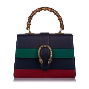 Authentic Gucci Medium Bamboo Dionysus Web Leather