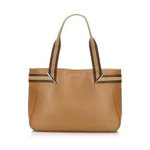 Authentic Gucci Web Leather Shoulder Bag