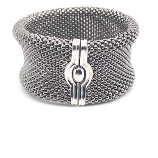14K White Gold Medium Mesh Bracelet