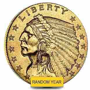 $2.5 Gold Quarter Eagle Indian Head - Extra Fine XF
