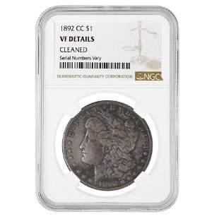 1892-CC Morgan Silver Dollar $1 NGC VF Details