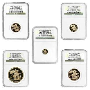 2015 2.0599 oz British Proof Gold Sovereign 5th