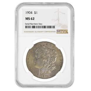 1904 Morgan Silver Dollar $1 NGC MS 62