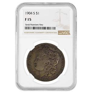 1904-S Morgan Silver Dollar $1 NGC F 15
