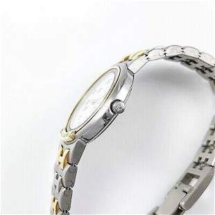 Authentic HERMES Meteor Combi Bracelet Quartz SS Ladies