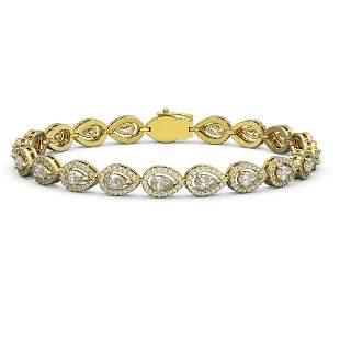 7.29 ctw Pear Cut Diamond Micro Pave Bracelet 18K