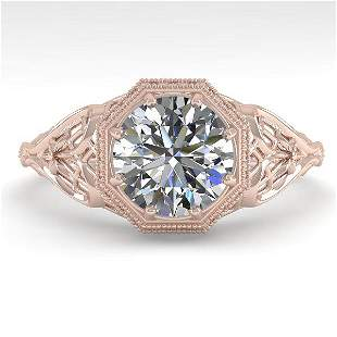 1.53 ctw VS/SI Diamond Solitaire Ring 14k Rose Gold