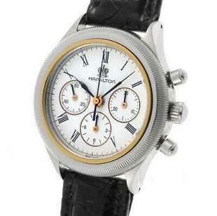 Authentic Hamilton Round Chronograph Manual Lemania