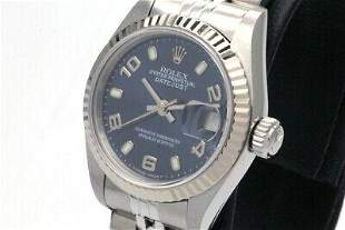 Authentic Rolex Automatic 79174 Blue Dial White Gold