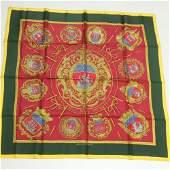 Authentic HERMES scarf LES ARMES DE PARIS 100 Silk