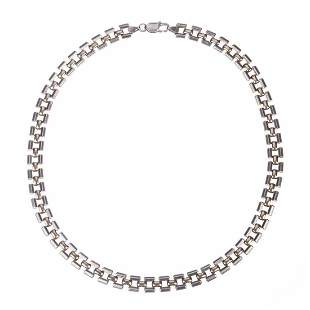 Sterling Silver and 14 kt Gold Vermeil Chain Necklace