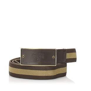 Authentic Gucci Web Canvas Belt