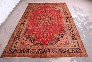 "Vintage Hand-Woven Persian Rug - 6'3"" X 9'4"""