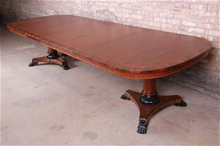 Kindel Furniture Neoclassical Banded Mahogany Double