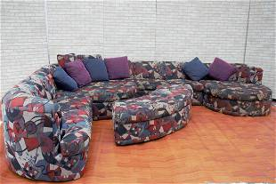 Thayer Coggin Sectional Chaise and Island Center with