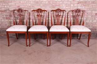 Baker Furniture French Carved Mahogany Dining Chairs