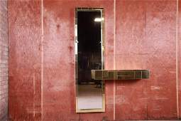 Paul Evans for Directional Cityscape Brass Mirror and