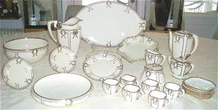 Extremely Rare Set of Lenox Silver Overlay