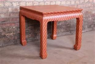 Baker Furniture Mid-Century Hollywood Regency Red