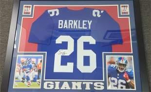 Authentic Signed Saquon Barkley NY Giants Jersey Frame