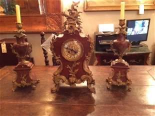 Antique French Victorian Paris H. Luppens Mantel Clock