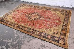 "Vintage Hand-Woven Persian Rug - 6'6"" X 9'8"""
