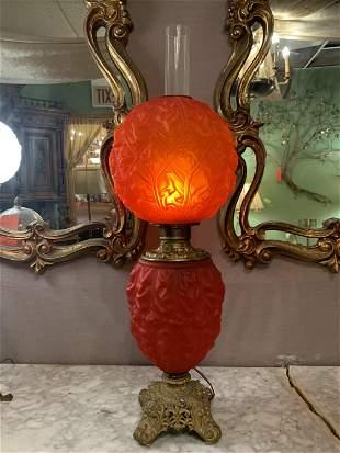 Victorian Bradley Hubbard Electrified Red Satin Banquet