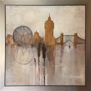 "Original Painting - ""London Eye"""