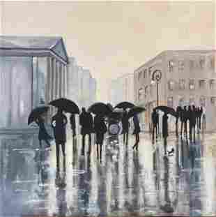 "Original Painting - ""Sight Seeing in the Rain II"""