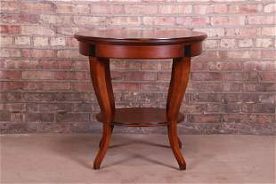 French Empire Style Cherry Wood Tea Table by Hickory