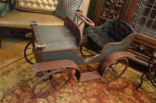 Antique Triang Style Wooden Pedal Car