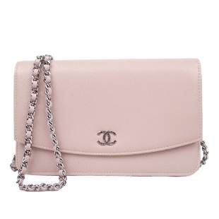 Authentic Chanel Caviar Wallet on Chain