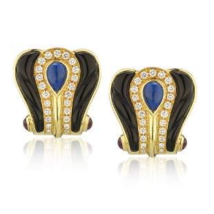 Authentic Cartier 18K Yellow Gold Black Enamel  Diamond