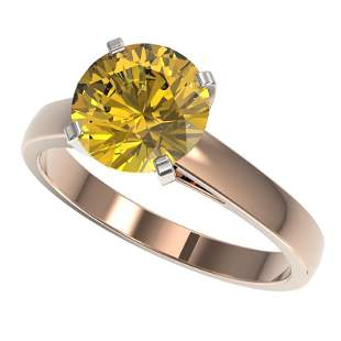 2.50 ctw Certified Intense Yellow Diamond Solitaire