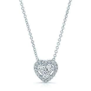 Diamond Heart Pendant In 14k White Gold (3/8 Ct.tw.)