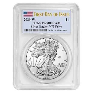 2020-W V75 Privy 1 oz Proof Silver American Eagle End