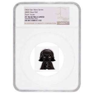 2020 1 oz Colorized Silver Star Wars - Darth Vader -