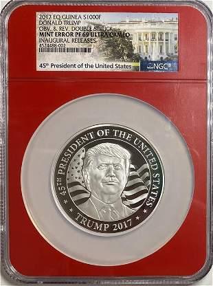 Trump Mint Error S1000F