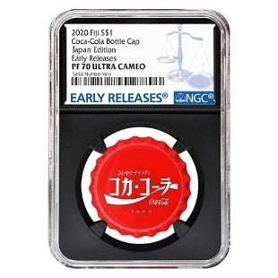 2020 6 gram Fiji Coca-Cola Japan Bottle Cap $1 Proof