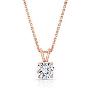 Round (full Cut) Diamond Solitaire Pendant In A