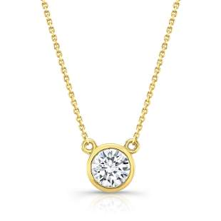 Round (full Cut) Diamond Solitaire Pendant In A 14k