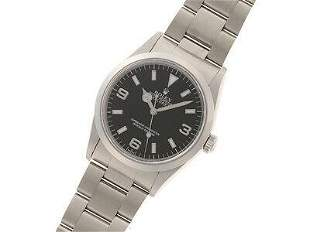 Authentic ROLEX 14270 Explorer 1 only SWISS stainless
