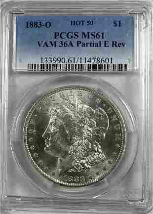 Morgan Silver Dollar  Vam 36A