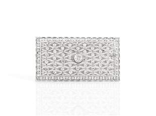 Authentic Art Deco Diamond Brooch